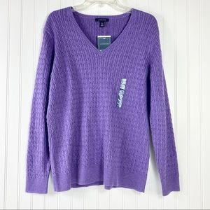 Lands End Cable Knit Sweater